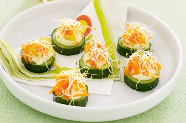 Cucumber rounds
